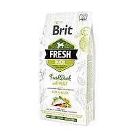 Brit Fresh Duck With Millet 12 кг - корм для собак с уткой и пшеном