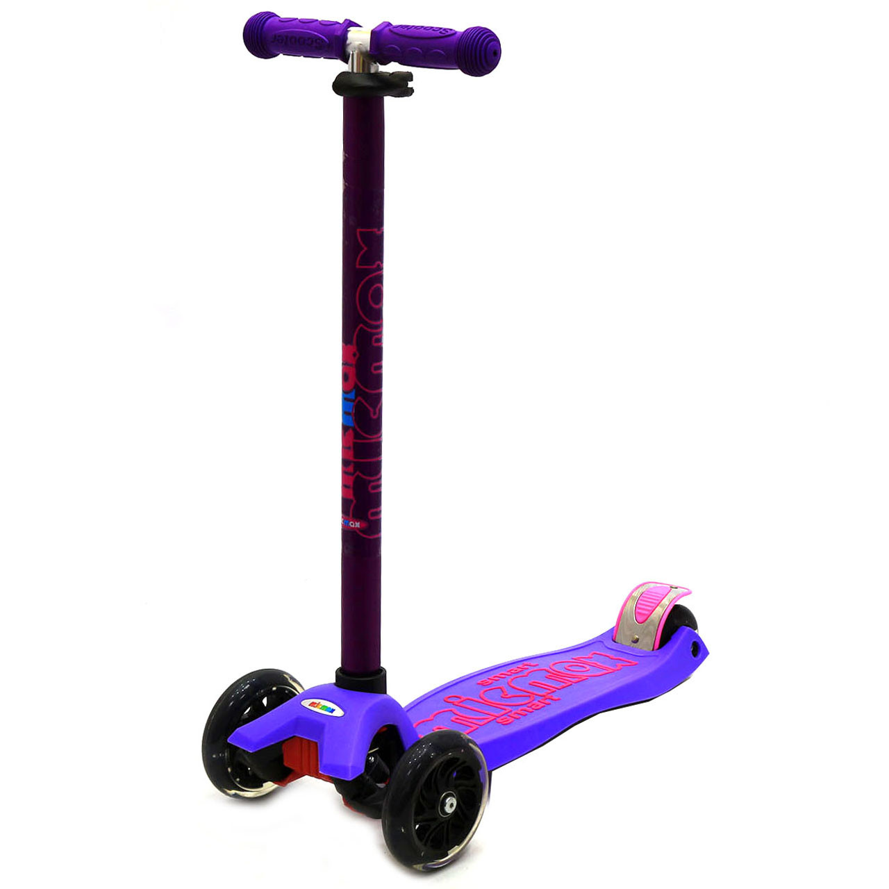 Самокат детский трехколесный Micmax Фиолетовый (SC17081)