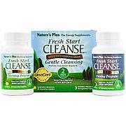 Очистка организма за 15 дней, Fresh Start Cleanse Kit, Natures Plus, 60 капсул