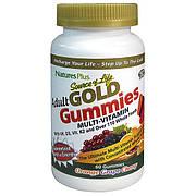 Мультивитамины для Взрослых, Вкус Апельсина Винограда и Вишни, Source of Life Gold, Natures Plus, 60