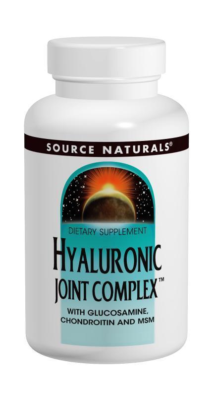 Гиалуроновая Кислота с Глюкозамином, Хондроитином и МСМ, Source Naturals, 60 таблеток