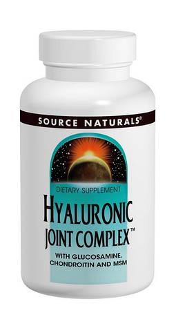 Гиалуроновая Кислота с Глюкозамином, Хондроитином и МСМ, Source Naturals, 60 таблеток, фото 2