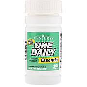 Ежедневные мультивитамины,  One Daily, Essential, 21st Century, 100 таблеток