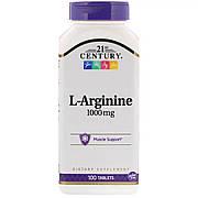 L-аргинин, 1 000 мг, 21st Century, 100 таблеток