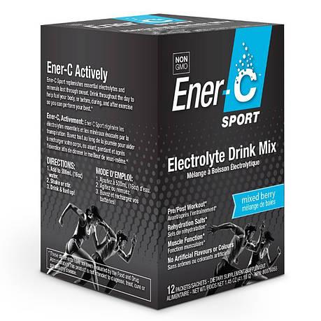 Электролитный напиток, Микс Ягод, Sport Electrolyte Drink Mix, Ener-C, 12 пакетиков, фото 2