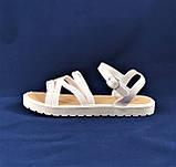 .Женские Сандалии Босоножки Белые Летние Римлянки (размеры: 36,37,38,39,40,41), фото 4