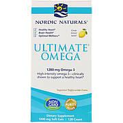 Рыбий Жир, Вкус Лимона, Nordic Naturals, Ultimate Omega, Lemon, 1,280 мг, 120 Капсул