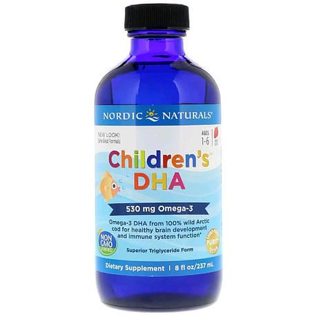 ДГК для Детей, со Вкусом Клубники, Children's DHA, Strawberry, Nordic Naturals, 237 мл, фото 2