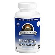 Мелатонин 1мг, Вкус Мяты, Sleep Science, Source Naturals, 100 таблеток для рассасывания