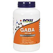 GABA (Гамма-Аминомасляная Кислота) 500мг, Now Foods, 200 гелевых капсул