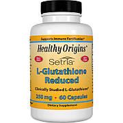 L-Глутатион 250мг, Setria, Healthy Origins, 60 капсул