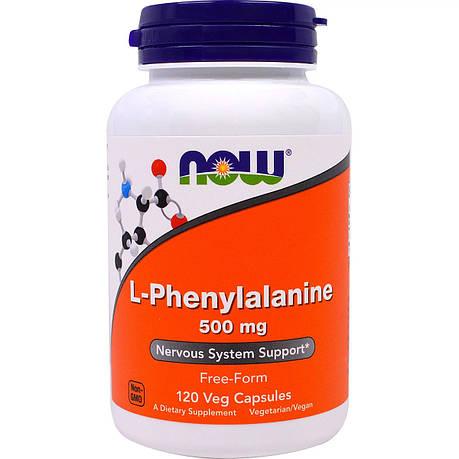 L-Фенилаланин, L-Phenylalanine, Now Foods, 500мг, 120 капсул, фото 2