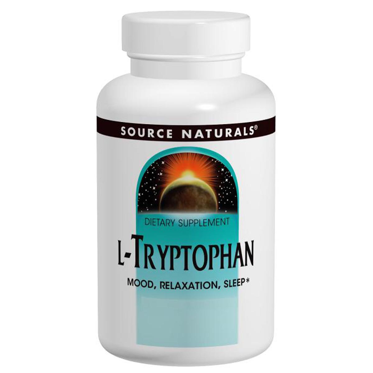 L-Триптофан, 500 мг, Source Naturals, 30 таблеток