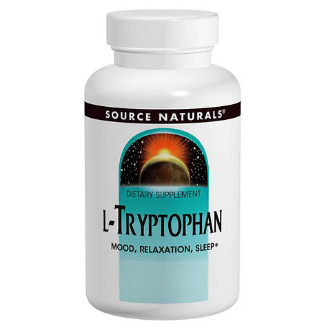 L-Триптофан, 500 мг, Source Naturals, 30 таблеток, фото 2