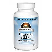 Теанин Серен, Serene Science, Source Naturals, 60 таблеток