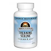 Теанин Серен, Serene Science, Source Naturals, 30 таблеток