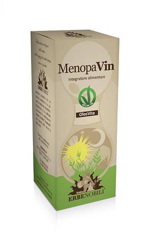 Комплекс для Женщин для Облегчения Симптомов Менопаузы, MenopaVin, Erbenobili, 50мл капли, фото 2