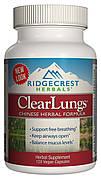 Комплекс для Поддержки Легких, Растительная Китайская Формула, Clear Lungs, RidgeCrest Herbals, 120 гелевых