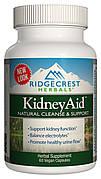 Комплекс для Поддержки Функции Почек, KidneyAid, RidgeCrest Herbals, 60 гелевых капсул