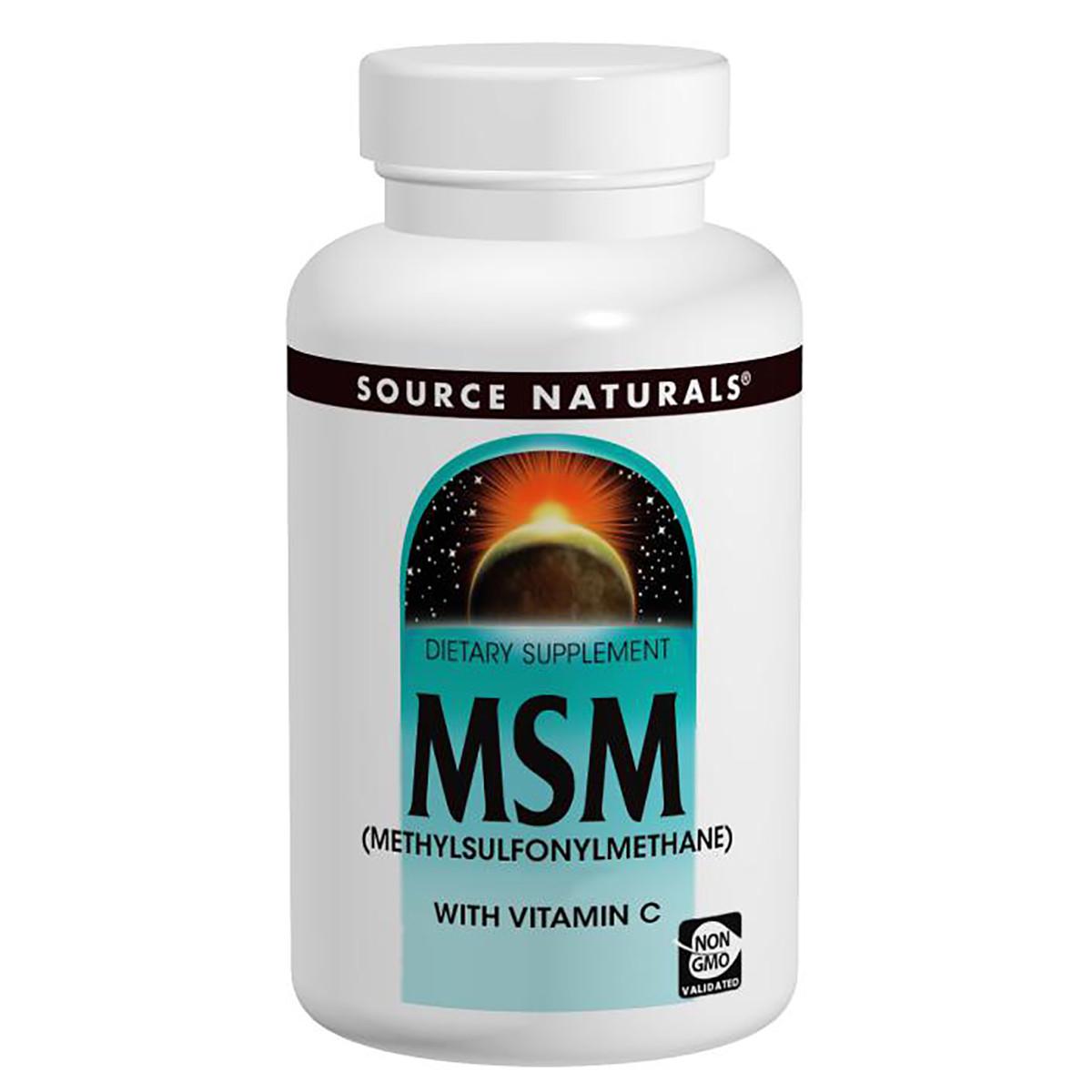 МСМ 1000мг с Витамином С, Source Naturals, 60 таблеток