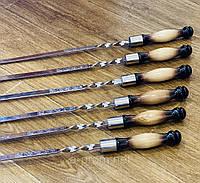 Шампура с деревянной ручкой, ручная работа (3 мм)