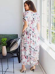 Романтичне плаття для пишных форм білий