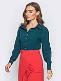Блузка классического кроя с длинным рукавом, фото 6
