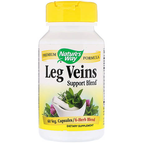 Поддержка Вен, Leg Veins Support Blend, Nature's Way, 60 капсул, фото 2
