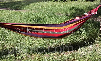 Тканевый гамак с планкой 200*80см Гамак для дома сада дачи лодочка на перекладине. Цвет №11 353, фото 2