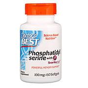Фосфатидилсерин, Phosphatidylserine with SerinAid, Doctor's Best, 100 мг, 60 желатиновых капсул