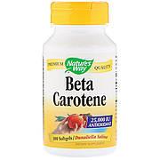 Бета Каротин (Витамин А), Beta Carotene, Nature's Way, 25 000МЕ, 100 гелевых капсул