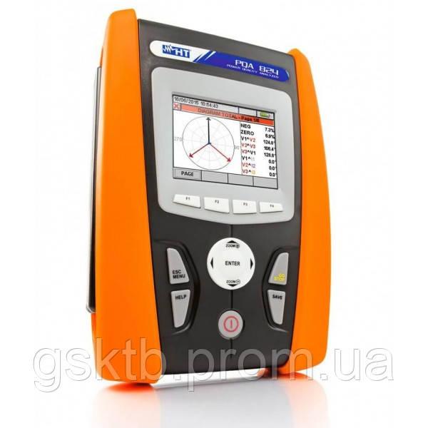 HT-PQA 823 анализатор качества электроэнергии с функцией записи и сенсорным дисплеем (Италия)