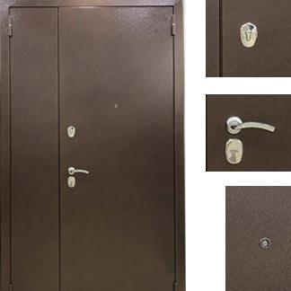 Дверь входная металлическая Sagan Model 112, Base, Fuaro, Металл / Темный орех, 1200х2050, левая