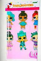 """Детская скатерть на стол """"Куклы L.O.L"""" (110*180)"""