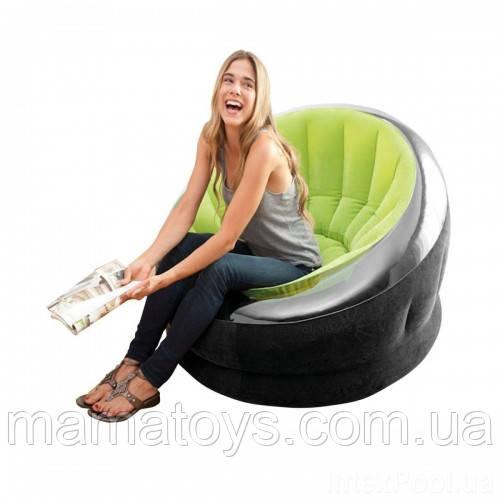 Надувное кресло Велюр 66581 Интекс Размеры 112-109-69 см