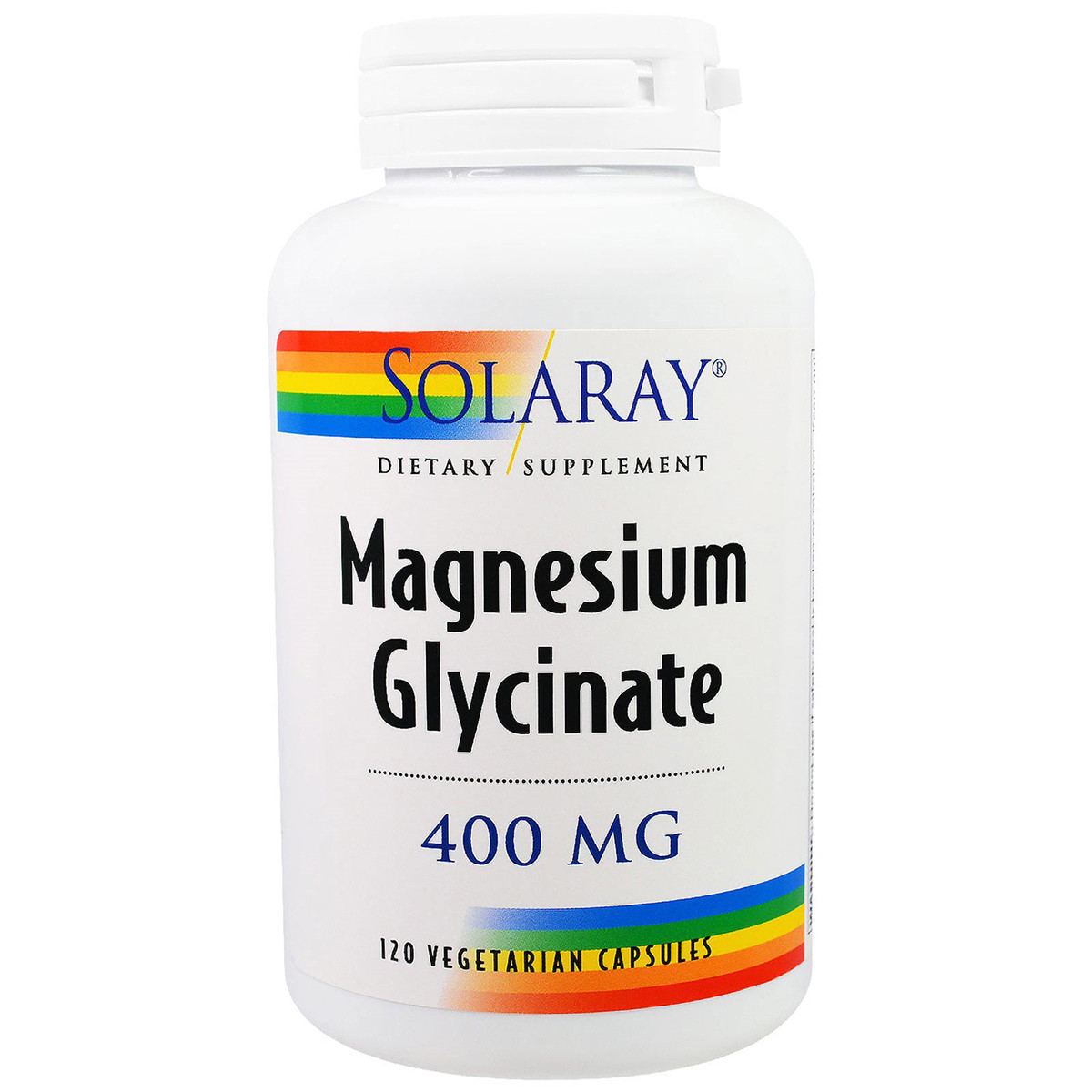 Магний Глицинат, Magnesium Glycinate, Solaray, 400 мг, 120 вегетарианских капсул