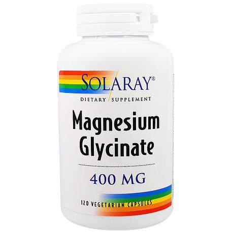 Магний Глицинат, Magnesium Glycinate, Solaray, 400 мг, 120 вегетарианских капсул, фото 2