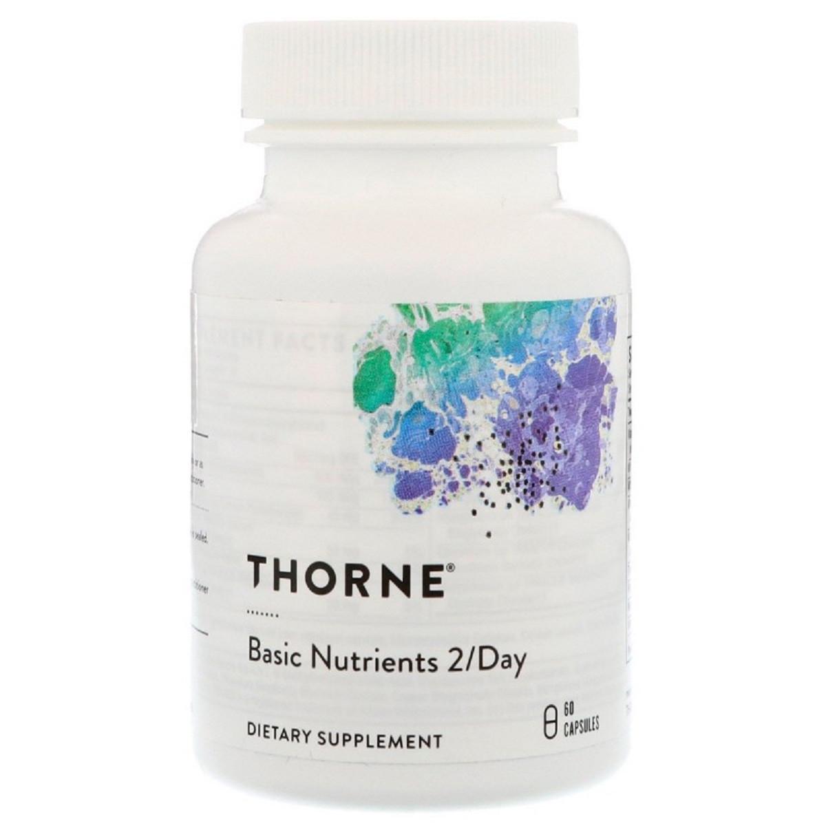 Базовые Питательные Вещества, Basic Nutrients 2/Day, Thorne Research, 60 Капсул
