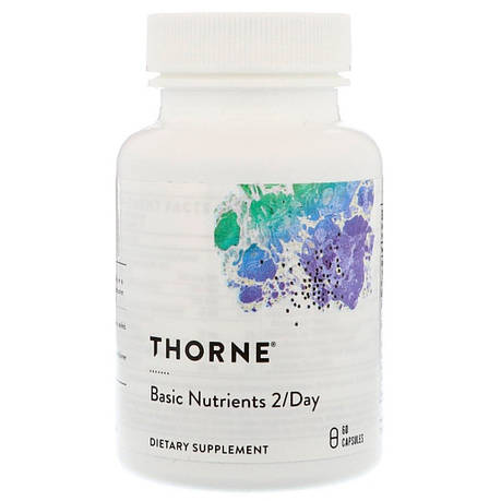 Базовые Питательные Вещества, Basic Nutrients 2/Day, Thorne Research, 60 Капсул, фото 2