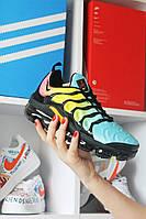 🔥 Кроссовки Nike Air Vapormax TN Blue Yellow Найк Аир Плюс 🔥 Найк мужские кроссовки 🔥