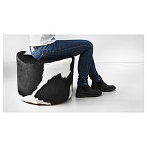 Шкіряні пуфи і табурети для ніг