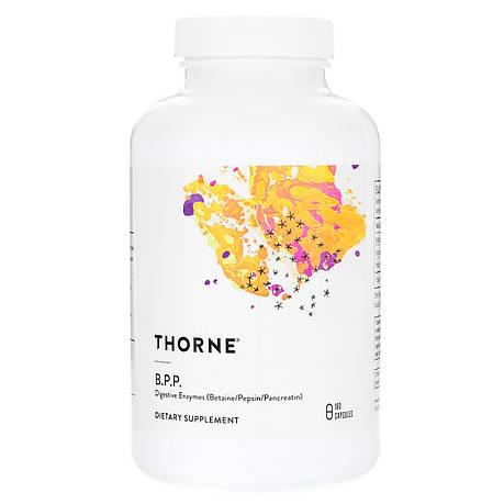 Пищеварительные ферменты (Бетаин /Пепсин /Панкреатин), Digestive Enzymes,Thorne Research, 180 капсул, фото 2