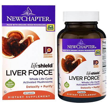 Поддержка Печени, Lifeshield Liver Force, New Chapter, 60 капсул, фото 2