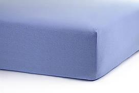 Голубая простынь на резинке