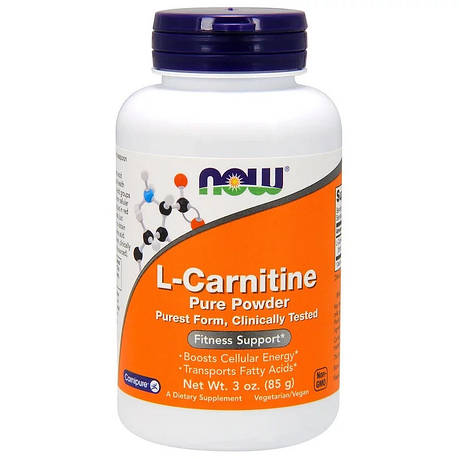 L- Карнитин, L-Carnitine, Now Foods, Порошок, 85 гр, фото 2