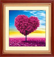 Рисование камнями 5D Lasko Древо любви (5D-025) 40 х 40 см