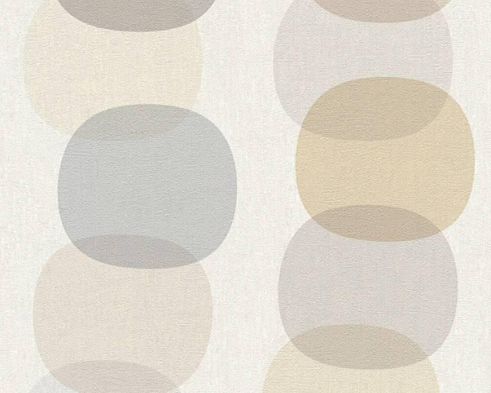 Немецкие геометрические обои 355903 с шарами и кругами бежевого, коричневого и серого цвета для мальчика