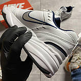 Кроссовки Nike Air Monarch White Blue Найк Эир Монарх Кожа Белый 🔥 Найк мужские кроссовки 🔥, фото 3