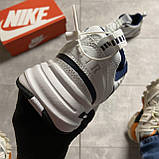 Кроссовки Nike Air Monarch White Blue Найк Эир Монарх Кожа Белый 🔥 Найк мужские кроссовки 🔥, фото 4