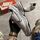 Кроссовки Nike Air Monarch White Blue Найк Эир Монарх Кожа Белый 🔥 Найк мужские кроссовки 🔥, фото 5